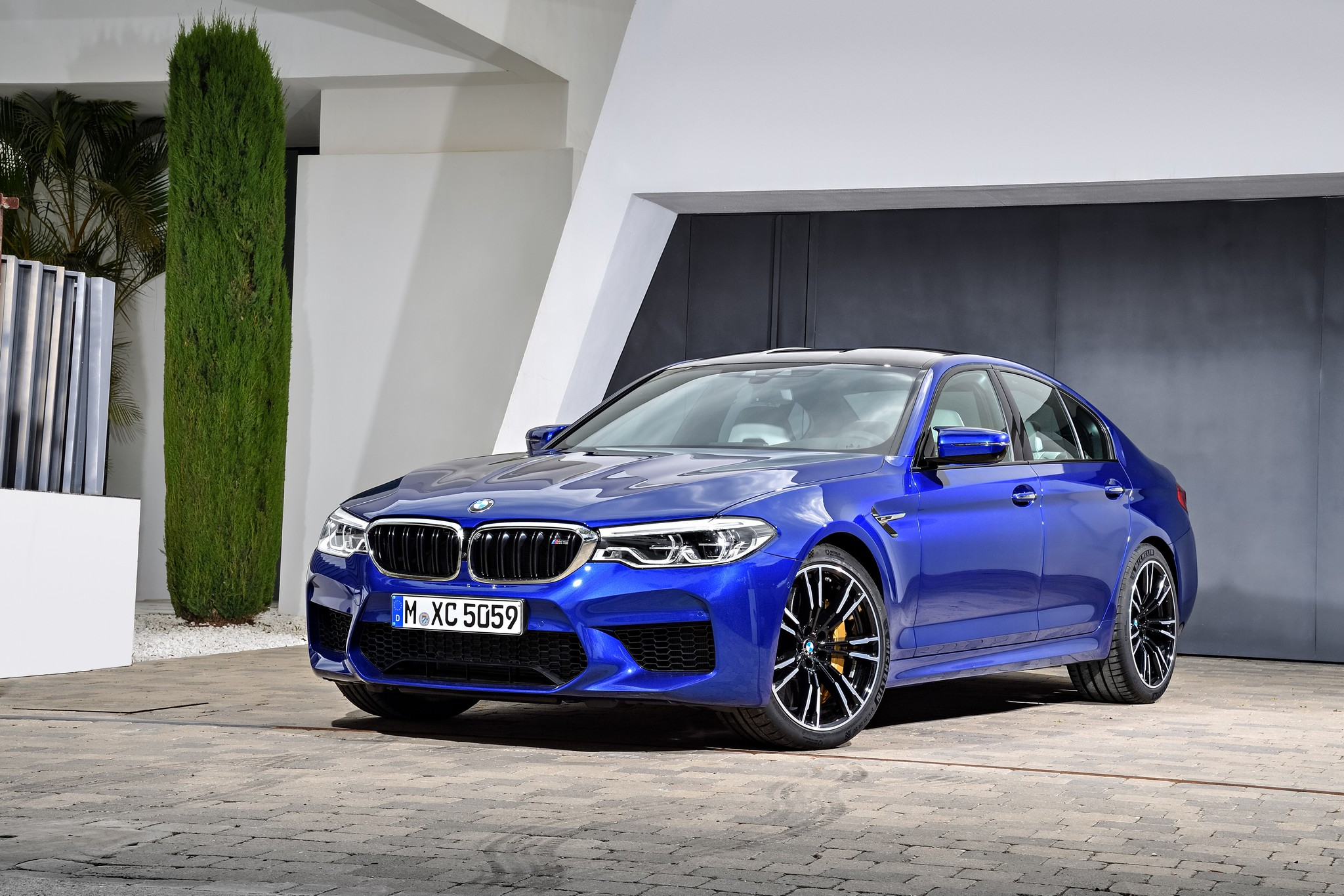 The new BMW M5 is here . . .